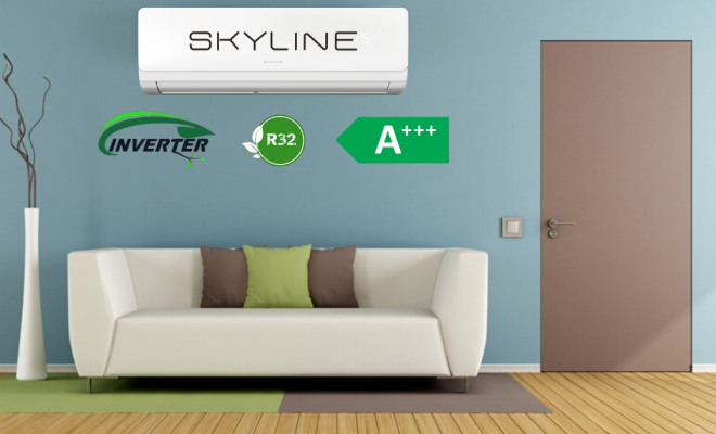 SKYLINE клима уред инвертер со А+++ енергетска ефикасност
