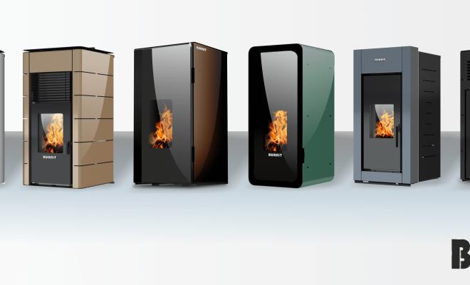 Ново!!! Обновен дизајн и современа технологија – Камини и котли на пелети BURNIT